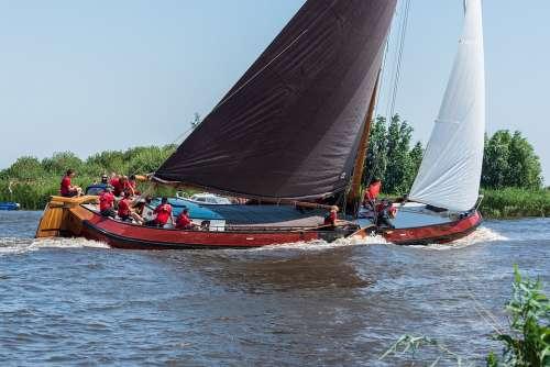 Boat Sailing Nautical Ship Sailboat Lake
