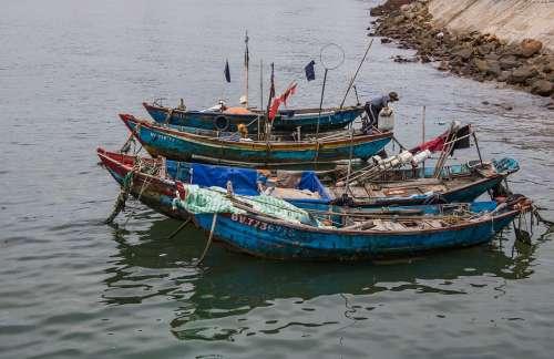 Boats Ocean Water Nature Fishing Ship Vietnam