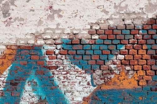 Brick Brick Wall Brick Background Graffiti