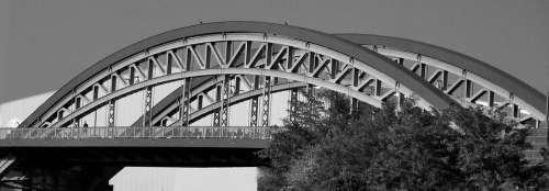 Bridge Sw Architecture Building Black And White