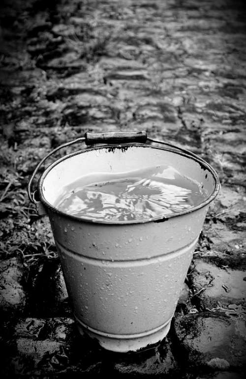 Bucket Wet Rain Patch Water Rainy Weather