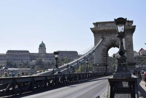 Budapest Bridge Hungary Architecture River Europe