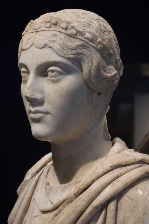 Bust Portrait Sculpture Greece Greek Woman