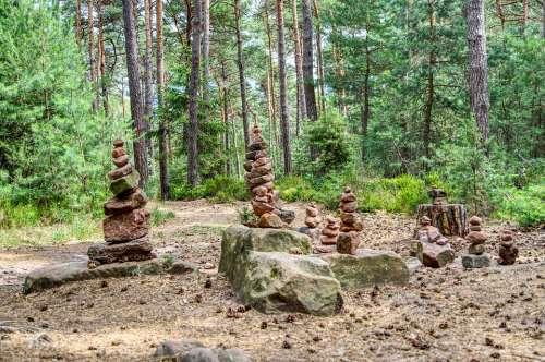 Cairn Stone Men Signpost Waymarks Nature Turret