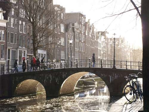 Canals Amsterdam Bridge River