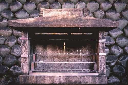 Candle Shrine Grey Culture Religion Prayer Holy