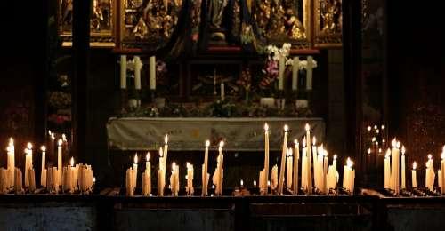Candles Pray Prayer Religion Church Light Faith
