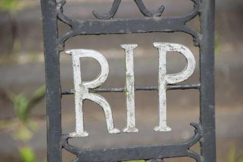 Cemetery Funeral Goal Iron Inscription