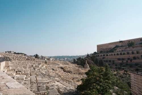 Cemetery Western Wall Jerusalem Israel Religion