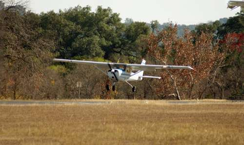 Cessna Airplane Flare Landing Airport
