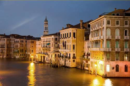 Channel Venice Italy Water River Building