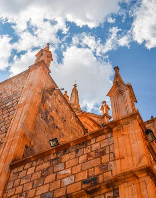 Church Construction Architecture Faith Stone Sky