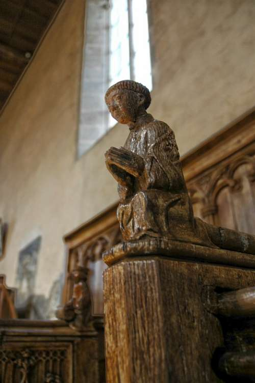 Church Carving Sculpture Wood Religion Figure