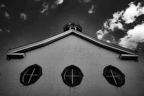 Church Wetzlar Black And White Architecture