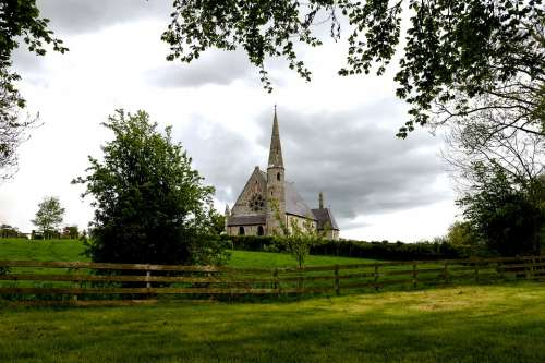 Church Of Ireland Ballyclog Scenery Clouds