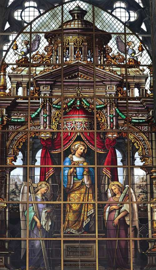 Church Window Holy Church Stained Glass Faith