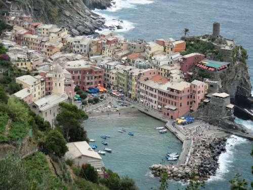 Cinque Terra Italy Architecture Mediterranean