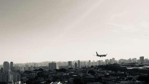 City Plane Airplane Grey Flight