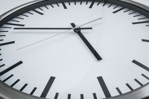 Clock Time Arrows Dial Pointer Second