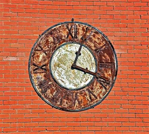 Clock Vintage Rustic Time Old Steampunk Machine