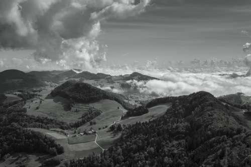Clouds Sky View Belchenflue Landscape Mood