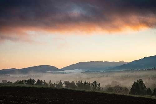 Clouds Fog Landscape Nature Sky Mountains Alpine