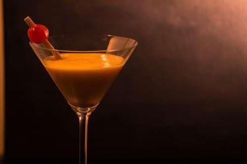Cocktail Cherry Martini Bar Red Glass Cherries