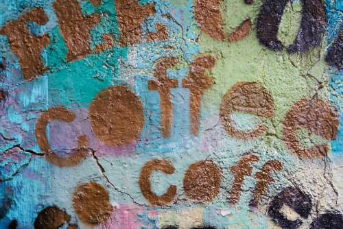 Coffee Graffiti Article Paint Background Texture