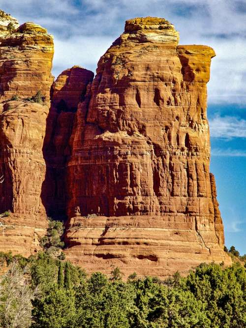 Coffeepot Rock Sedona Arizona Landscape Desert