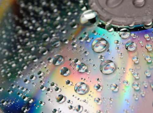 Color Cd Colorful Water Drops Waterdrops Rainbow