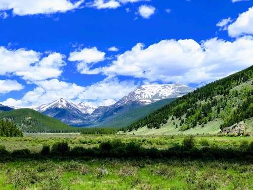 Colorado Tumbling River Rockies Nature Landscape