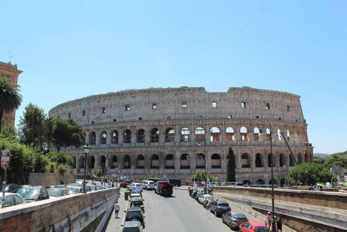 Colosseum Rome Italy Architecture Tourism Europe