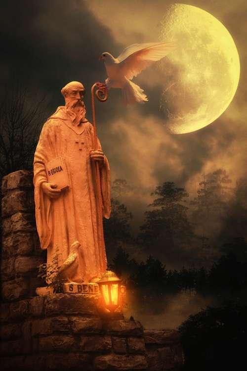 Composing Moon Fantasy Mystical Surreal