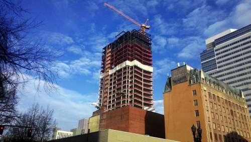 Construction Crane Industry Cranes Sky Urban Work