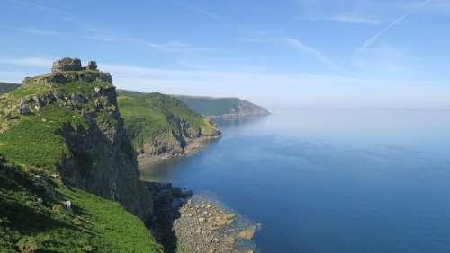 Cornwall Coast Sea Landscape Cliffs England