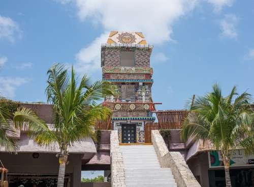 Costa Maya Mexico Tower Aztec Travel Caribbean