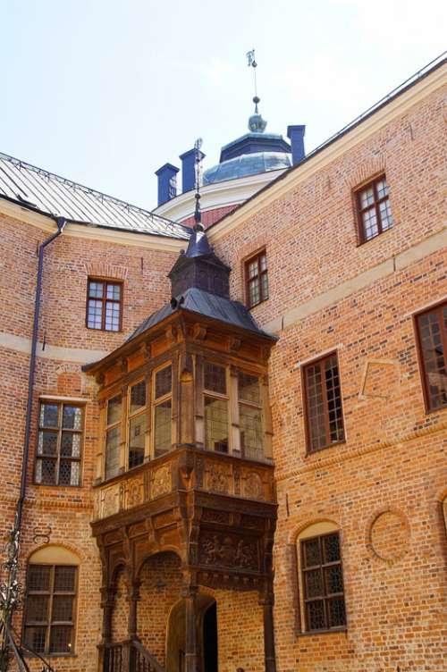 Courtyard Castle Gripsholm Castle Schlosshof