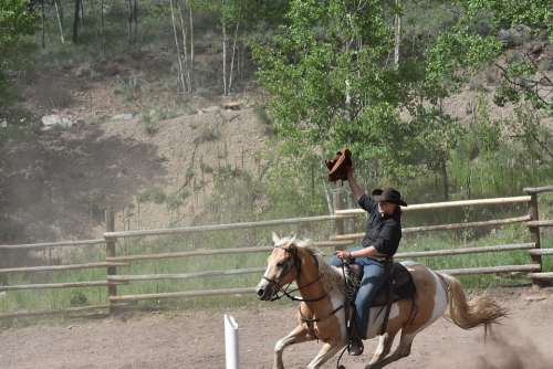 Cowgirls Rodeo Competition Horse Western Riding