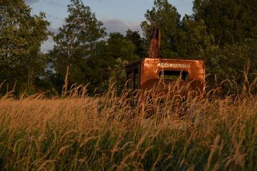Crane Abandoned Vintage Equipment Old Dilapidated