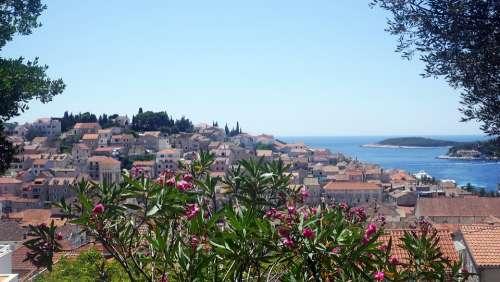 Croatia Island Hvar Sea Landscape Adriatic Sea