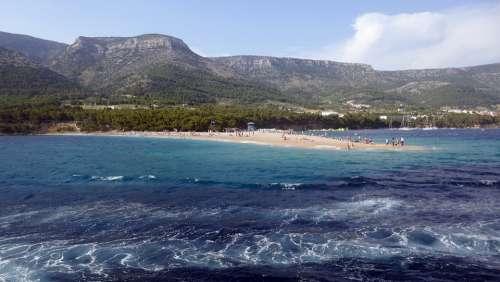 Croatia Island Brac Sea Landscape Adriatic Sea