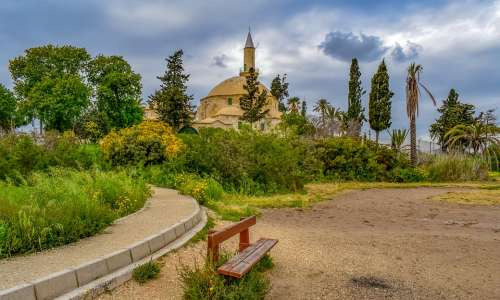 Cyprus Larnaca Lake Salt Lake Landscape Morning