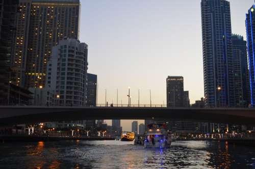 Dawn Skyscraper City Cityscape