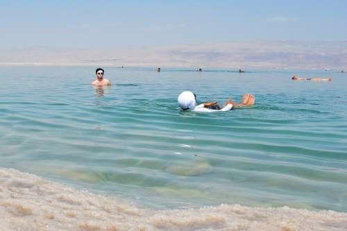 Dead See Floating Friends Summer Adventure Water