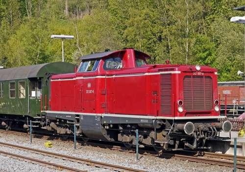 Diesel Locomotive V 100 Deutsche Bundesbahn Tag Dare