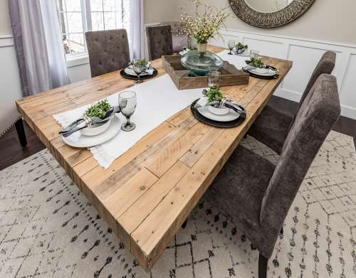 Dining Room Chairs Table Wood Decor Interior Home