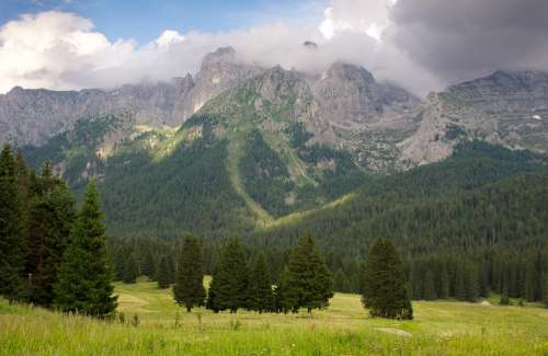 Dolomites Outdoor Landscape Nature Mountain