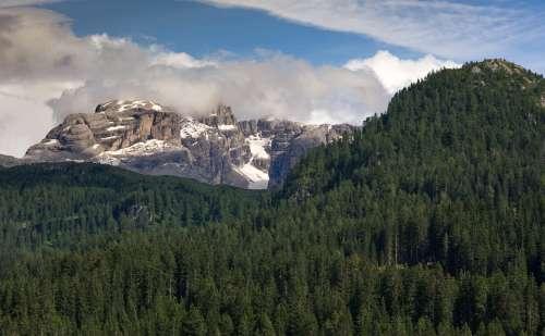 Dolomites Outdoor Landscape Nature Mountain