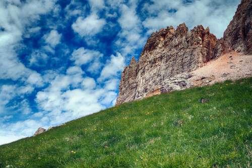 Dolomites Rocks Italy Alpine Mountains