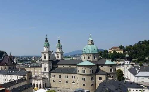 Dom Church Salzburg Austria Travel Architecture
